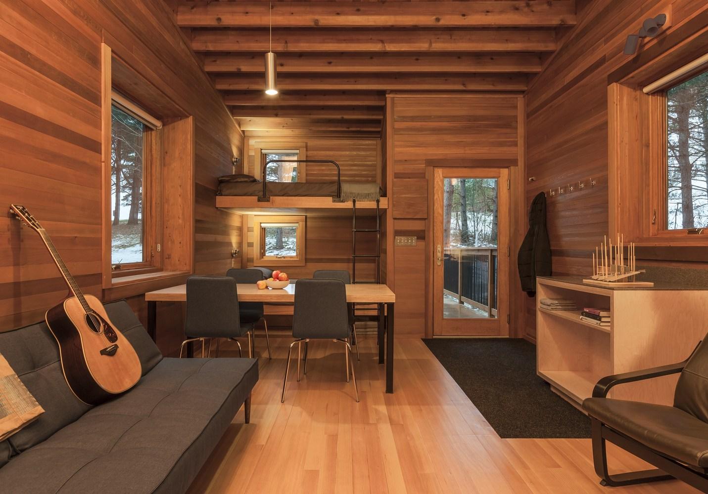 Refugio Cabañas campistas del parque regional Whitetail Woods – HGA Architects and Engineers